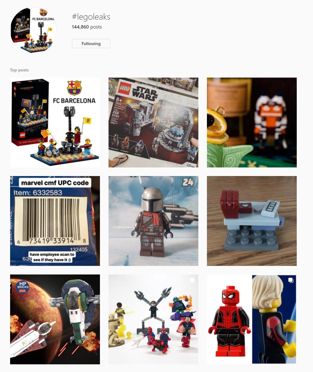 LEGO Leaks Instagram