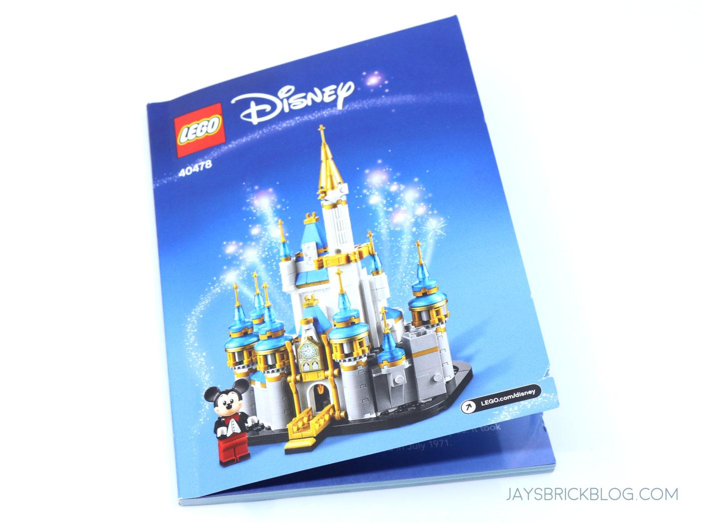 LEGO 40478 Mini Disney Castle Manual