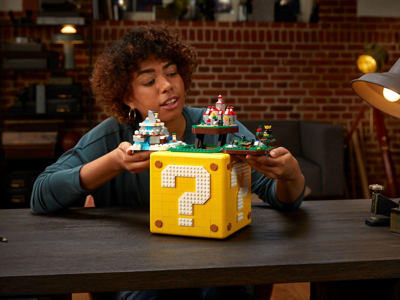 LEGO 71395 Super Mario 64 Question Mark Block Scale