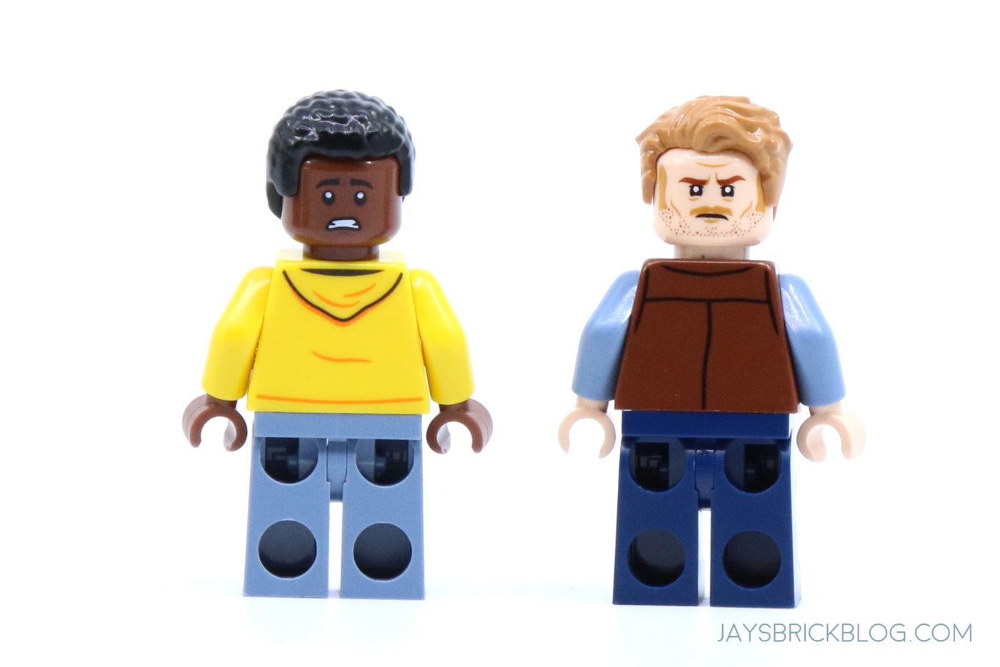 LEGO 76940 T. rex Dinosaur Fossil Exhibition Darius and Owen Minifigure Back