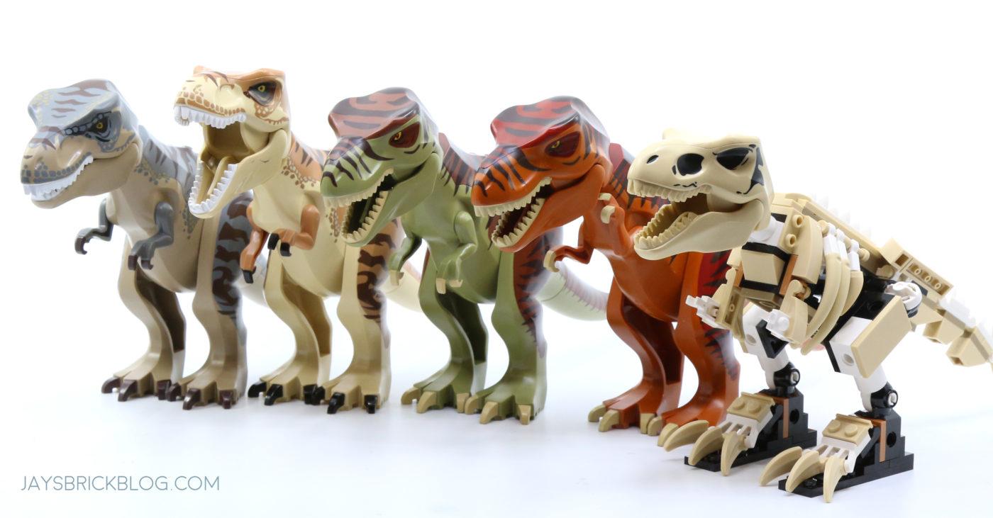 LEGO 76940 T. rex Dinosaur Fossil Exhibition LEGO T.Rex Comparison
