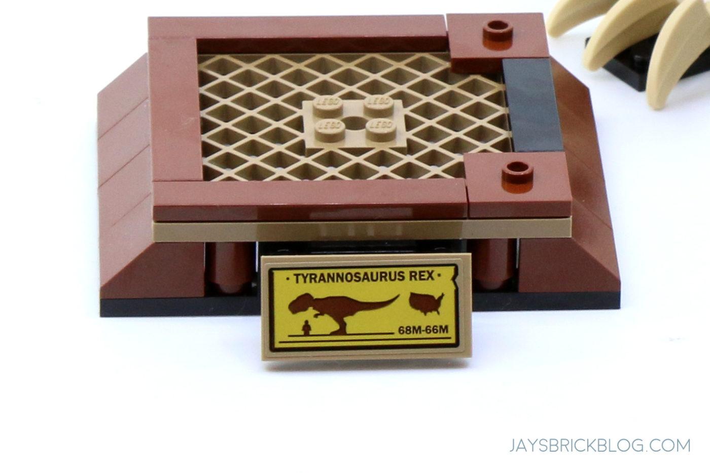 LEGO 76940 T. rex Dinosaur Fossil Exhibition Plaque