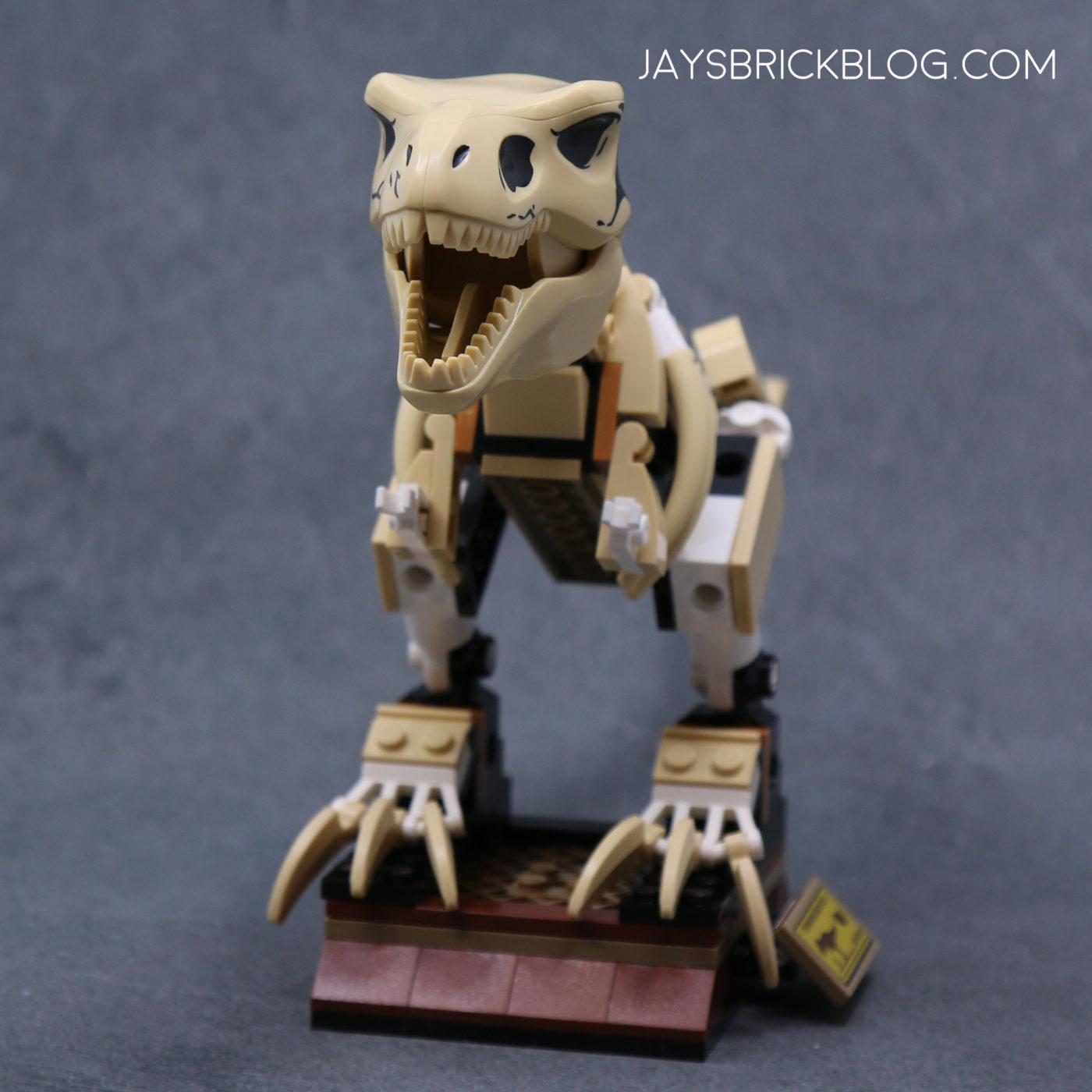 LEGO 76940 T. rex Dinosaur Fossil Exhibition T.rex Skeleton Front